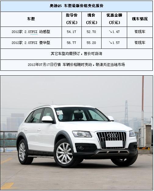 奥迪Q5最高优惠157万 部分车型有现车 汽车