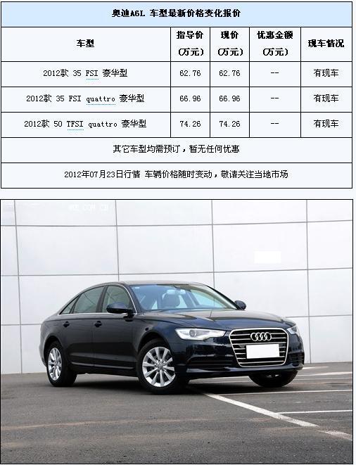 新奥迪A6L暂无优惠 部分车型有现车 分析车评