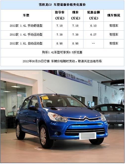 购东风雪铁龙C2可享受85折优惠 现车销售 二