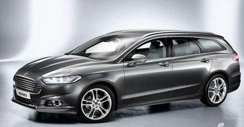 福特新一代蒙迪欧旅行版车头部分也采用最新的家族式格栅,扁平